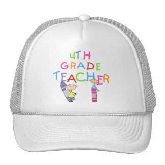 Crayons 4th Grade Teacher T-shirts and Gifts Trucker Hats