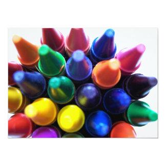 Crayons 5.5x7.5 Paper Invitation Card