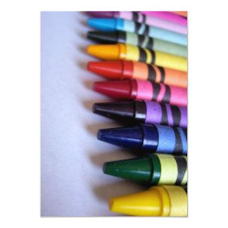"Crayons 5"" X 7"" Invitation Card"