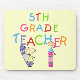 Crayons 5th Grade Teacher Tshirts and Gifts Mouse Pad