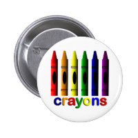 Crayons Art for Children Button