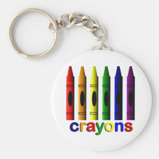 Crayons Art for Children Key Chain