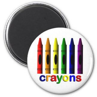 Crayons Art for Children Magnet