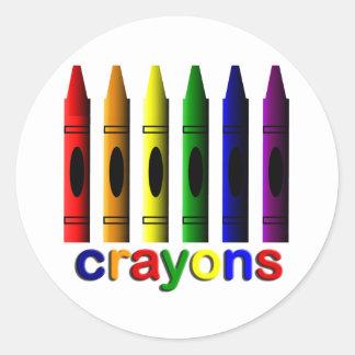 Crayons Art for Children Sticker