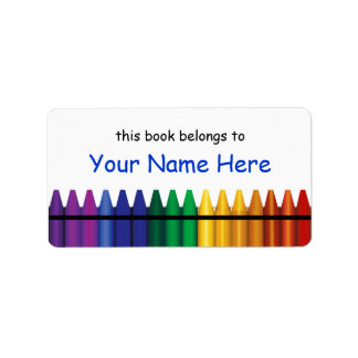 Crayons Bookplate Template Label 2