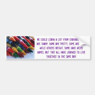 crayons bumper sticker