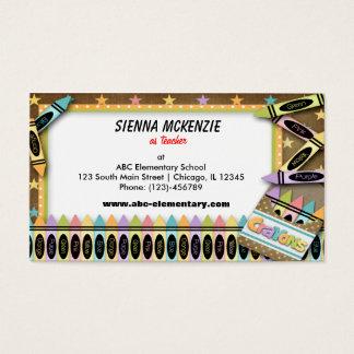 Crayons Business Card