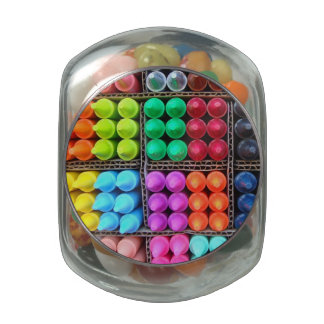 Crayons candy jar