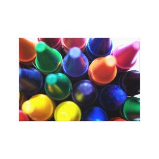 Crayons Canvas Prints