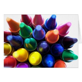Crayons! Greeting Card