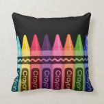 Crayons * choose your background color pillows
