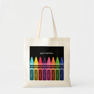 Crayons * choose your background color tote bag