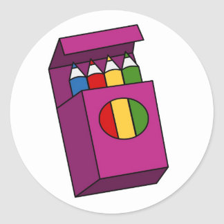 crayons classic round sticker