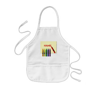 Crayons Color my Name Kids Artist Apron Template
