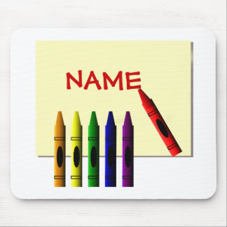 Crayons Color my Name Mousepad