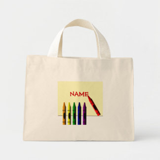Crayons Color my Name Tote Bag