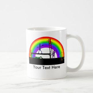 Crayons Coloring a Rainbow Mug