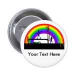 Crayons Coloring a Rainbow Pinback Buttons