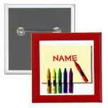 Crayons Cute Color my Name Button