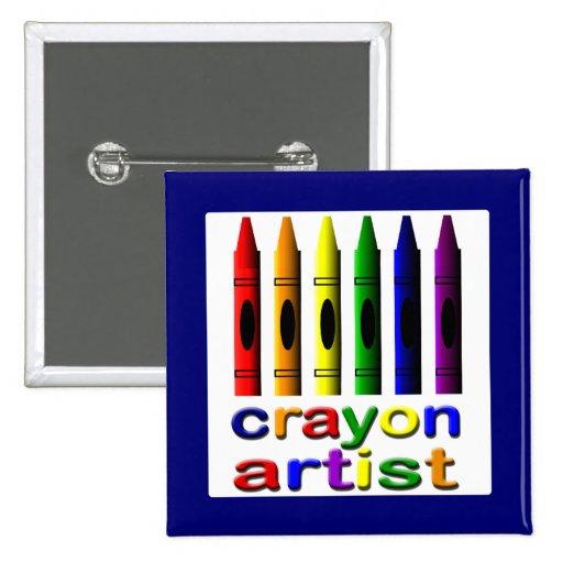 Crayons Cute Crayon Artist Button