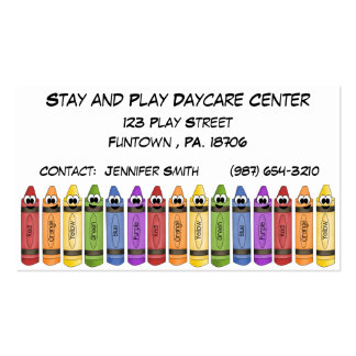 Crayons Daycare Center Double-Sided Standard Business Cards (Pack Of 100)