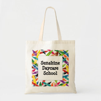 Crayons Frame Tote Bags