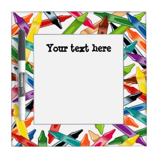 Crayons Frame Dry-Erase Board