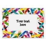 Crayons Frame Greeting Card