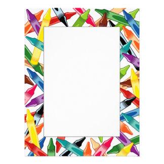 Crayons Frame Letterhead