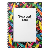 Crayons Frame Notebook