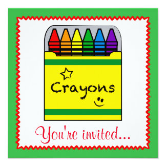 Crayons in a Box Art Project Birthday Card
