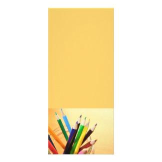 CRAYONS PENCILS COLORFUL JAR SCHOOL ART SUPPLIES CUSTOM RACK CARD