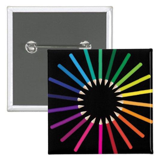 Crayons Pinback Button