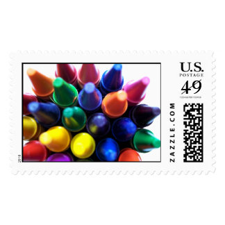 Crayons! Postage Stamp