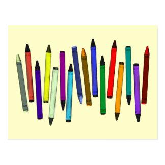 Crayons Postcard