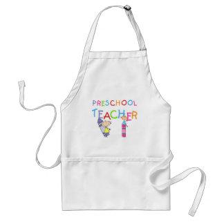 Crayons Preschool Teacher TShirts and Gifts Adult Apron