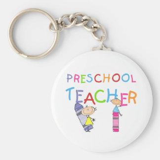 Crayons Preschool Teacher TShirts and Gifts Keychain