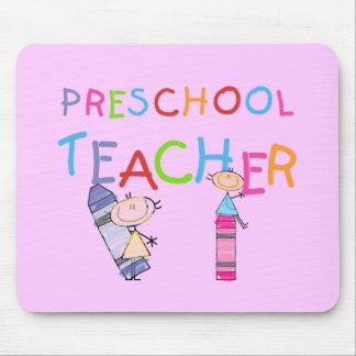 Crayons Preschool Teacher TShirts and Gifts Mousepad
