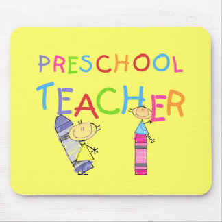 Crayons Preschool Teacher TShirts and Gifts Mouse Pads