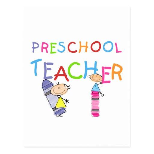 Crayons Preschool Teacher Tshirts and Gifts Postcard