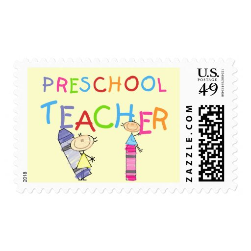 Crayons Preschool Teacher Tshirts and Gifts Stamp