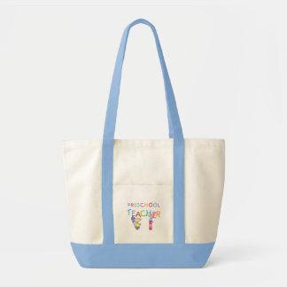Crayons Preschool Teacher TShirts and Gifts Tote Bag