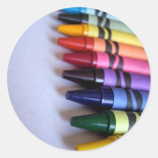 Crayons Sticker! Classic Round Sticker
