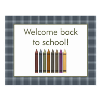 Crayons Welcome Back to School Postcard