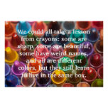 Crayons Words to Live By Poster