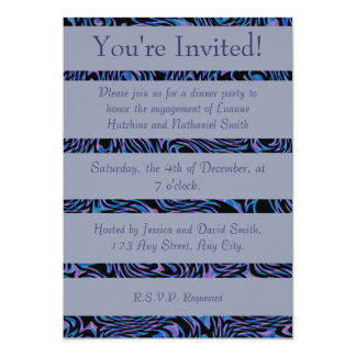 Crazed Abstract in Blue, Black, and Purple Card