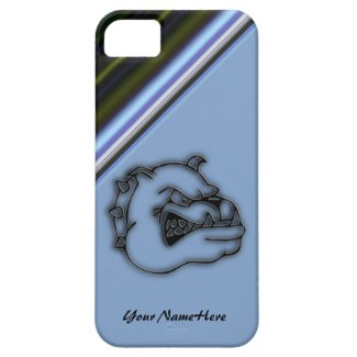 Crazed Bulldog Blue Abstract iPhone 5 Case