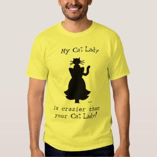 Crazier Cat Lady Husband or Boyfriend Tee Shirt