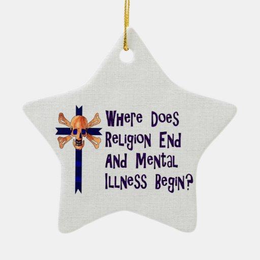 Crazies religioso adorno navideño de cerámica en forma de estrella