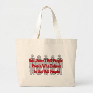 Crazies religioso bolsa tela grande
